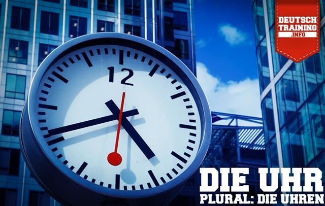 Wortschatz Deutsch Uhr