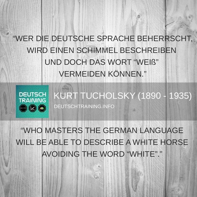 Tucholsky - Deutsche Sprache