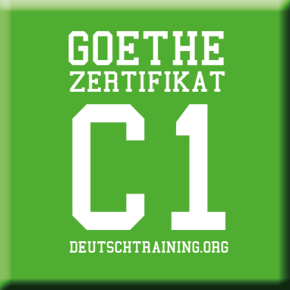 Goethe Zertifikat C1 Daf Prüfungsvorbereitung Online