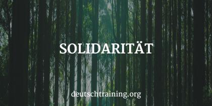 Solidarität