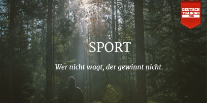 Wortschatz Sport