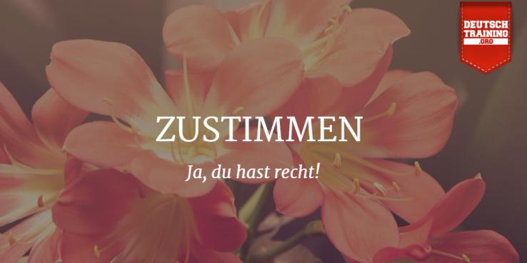 zustimmen - Deutsch lernen online